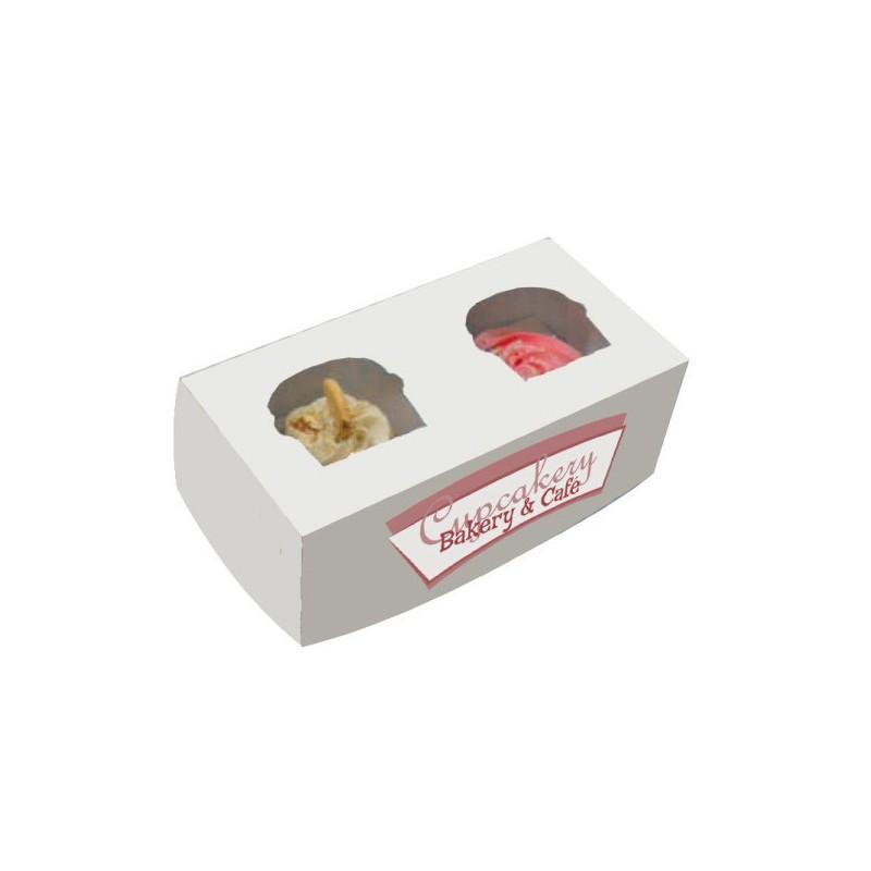 Boite 2 cup cake carton bo tes carton alimentaire favry - Boite en carton recycle ...