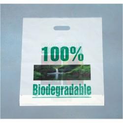 Sac cabas poignée découpée biodégradable