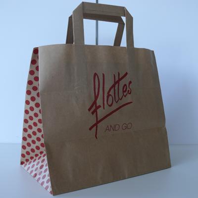 sac en papier VAE personnalisé brasserie Flottes