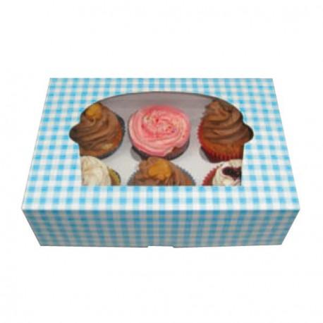 Boite 6 cup cake carton