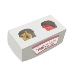 Boite 2 cup cake carton